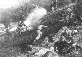 Motocross-Rennen am Gipfelberg; im Bild FM Medwenitsch Fritz